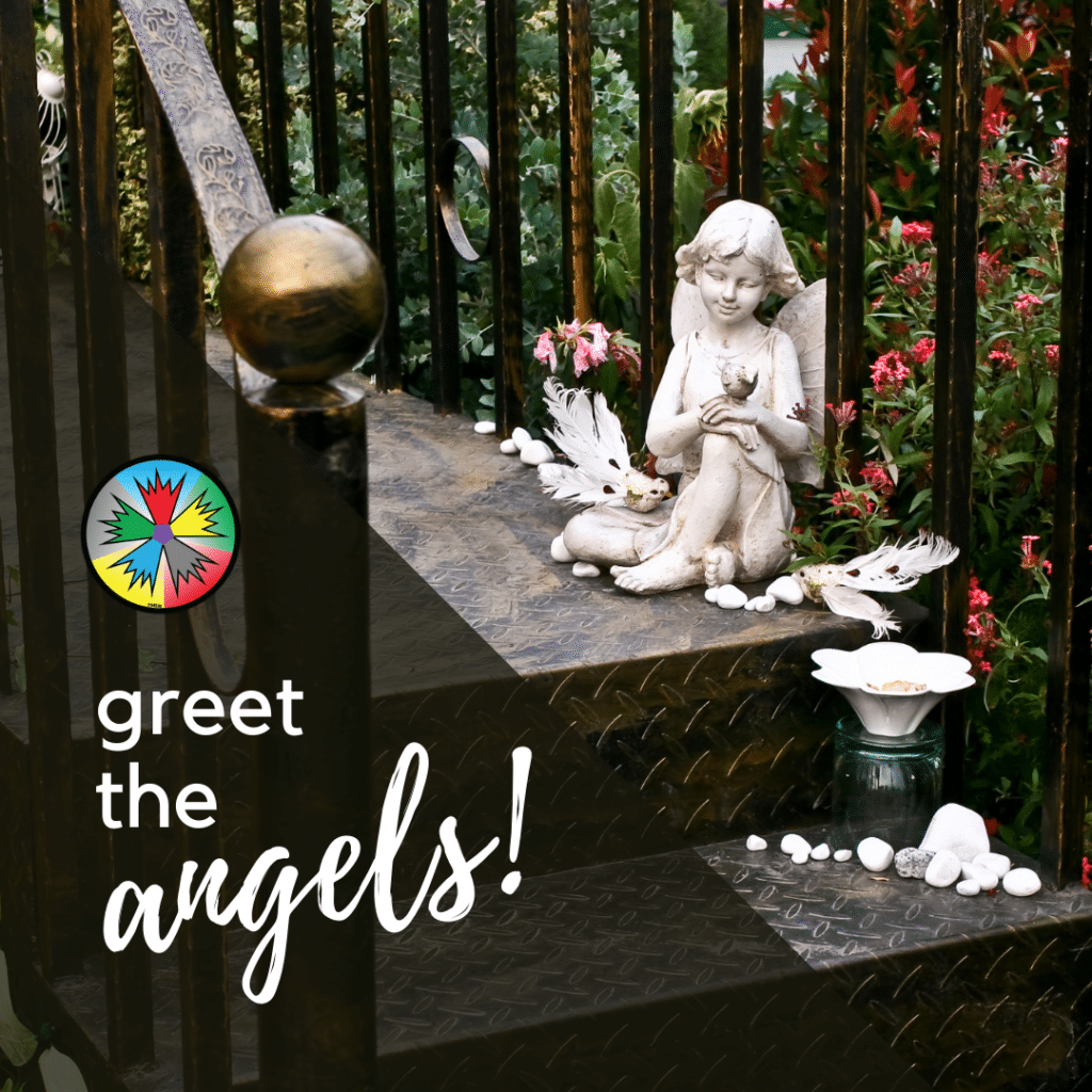 Angels on the stoop